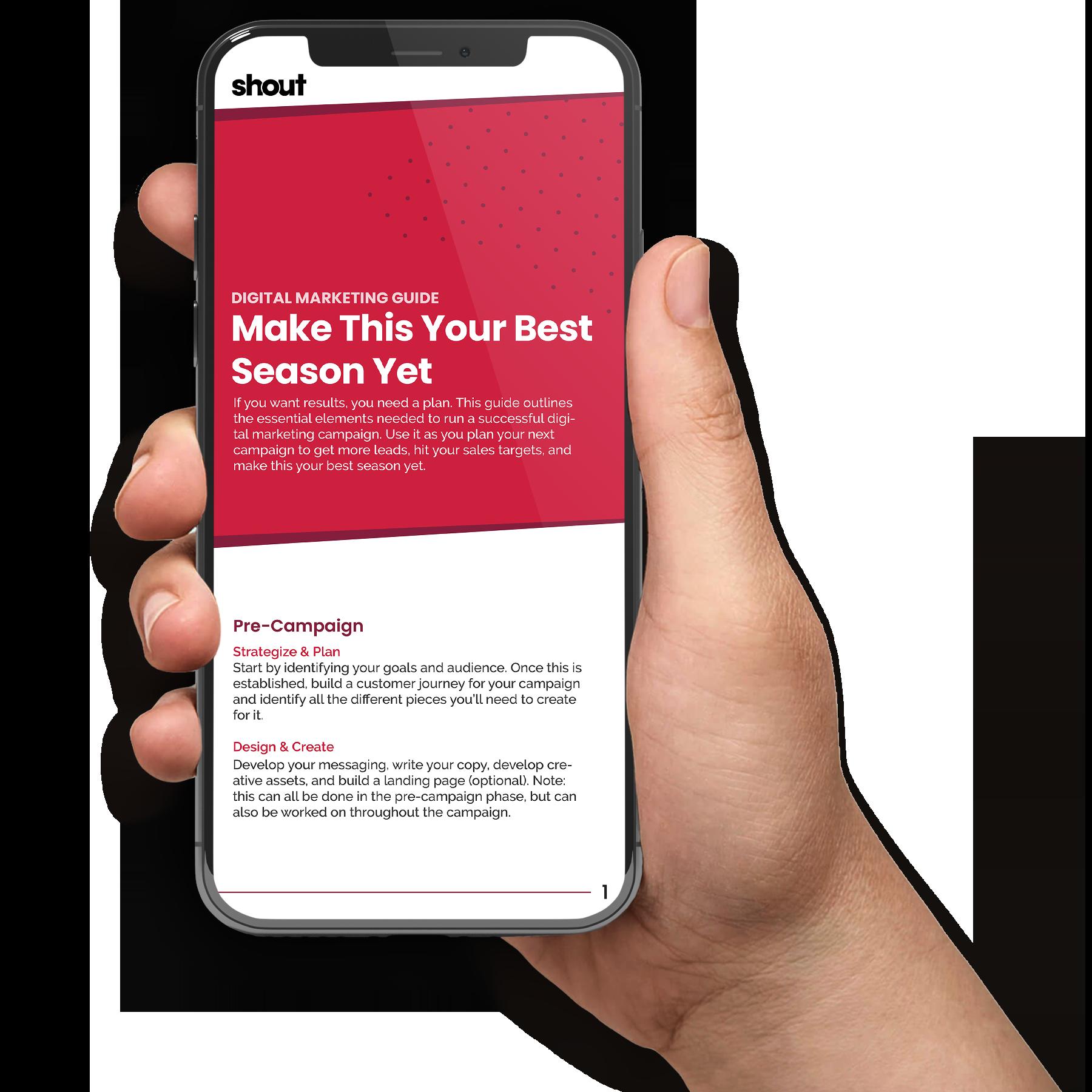 Free Digital Marketing Guide Mockup